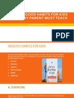 List of 16 Good Habits for Kids | Wonder Parenting
