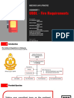 UBBL Fire Requirements - Law & Practice
