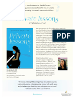 Private Lessons by Cynthia Salaysay Author's Note