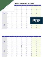 Calendario de Pausas Activas