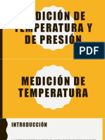 Mediciones de Temperatura y Presión