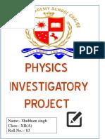 investigatory project of physics