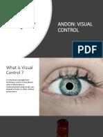 Andon control visual