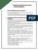 Responder Las Siguientes Interogantes Sobre Control Interno Gubernamental