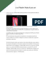 Xiaomi Lanzó El Redmi Note 8 Pro en Colombia