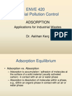 Adsorption of carbon