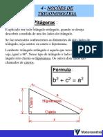 4 - Noções de Trigonometria - Slides
