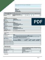 FORMATO N° 01 - REGISTRO DE PROYECTOS DE INVERSIÓN