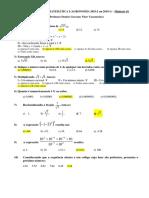 Dcfs Mat i - Miniteste 01 Resolvido