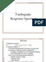 Lecture 10 Response Spectrum