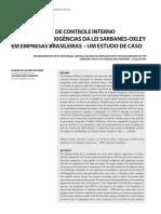 A Implantação de Controle Interno Adequado Às Exigências Da Lei Sarbanes-Oxley Em Empresas Brasileiras – Um Estudo de Caso