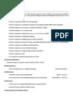 Technical sample resume