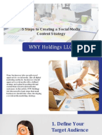 WNY Holdings LLC | 5 Steps to Creating a Social Media Content Strategy