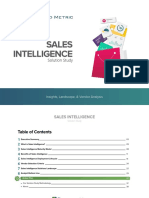 Sales Intelligence Solution Study