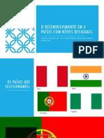O Desenvolvimento Em 4 Países Com Níveis Desiguaisfinal