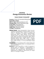 IIES Quarterly Energy Economics Review Vol 4 No 12 Sp 2007