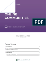 Online Communites Technology Overview