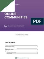 Online Communites Technology Overview