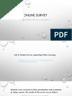 online survey assignment 11