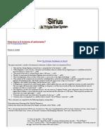 Sirius - A Triple Star System