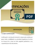 Certificações Conceitos