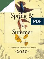 Vanderbilt University Press Spring/Summer 2020 Catalog