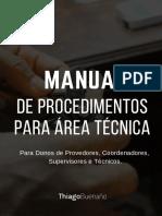 Manual de Procedimentos para Área Técnica - Instalação de Fibra