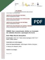 Mestrado - Enfermagem - Enfermagem Médico-cirúrgica, A Pessoa Em Situação Crítica - João Filipe Duarte Gonçalves - IsBAR...