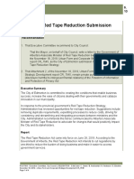 Provincial Red Tape Reduction Submission