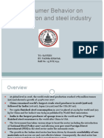 Consumer Behavior on Iron and Steel Industry
