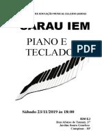 Poster Piano e Teclado 23_11