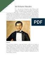 Biografia de Fransisco Del Rosariosanchez