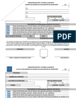 Formato de Acta de Cumplimiento de Entrega de Documentos de Inscripcin R-Ar032