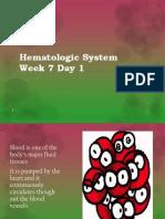 Hematology lecture