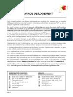 Formulaire Logement Social Demande Ville Geneve