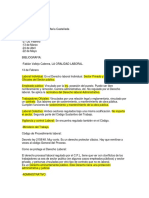 Notas de Derecho Procesal Laboral