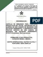 2) Cartilla de Embarque Oficial de Maquinas
