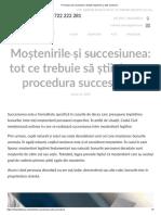 Procedura de Succesiune. Detalii Moștenire Și Acte Necesare