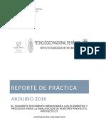 Reporte de Practica Arduino 2016