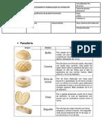 Especificaciones sobre producto terminado