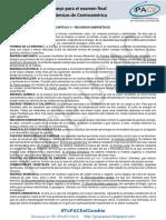 Material de apoyo para el examen final de recursos económicos de C.A. 2018