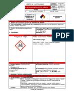 Ficha técnica amoniaco