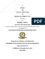 Capital Structure Analysis at Bharathi Cement