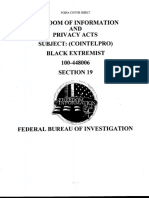 FBI COINTELPRO-Black Extremism Section 19
