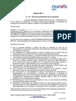 ANEXO No 01 - CARTA DE PRESENTACIÓN