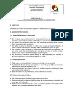 Guía 1 Normas de Seguridad e Higiene en Laboratorio - Copia