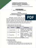 Pengumuman Cpns Kabupaten Blitar 2019