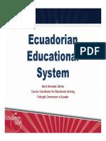 ECUADORIAN EDUCATION