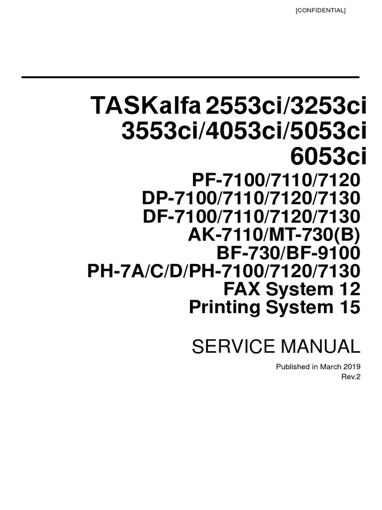 TASKalfa 2553ci Series and OPTIONS Service Manual