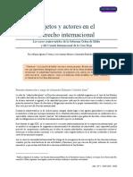 Derecho internacional Público Sujetos y Actores